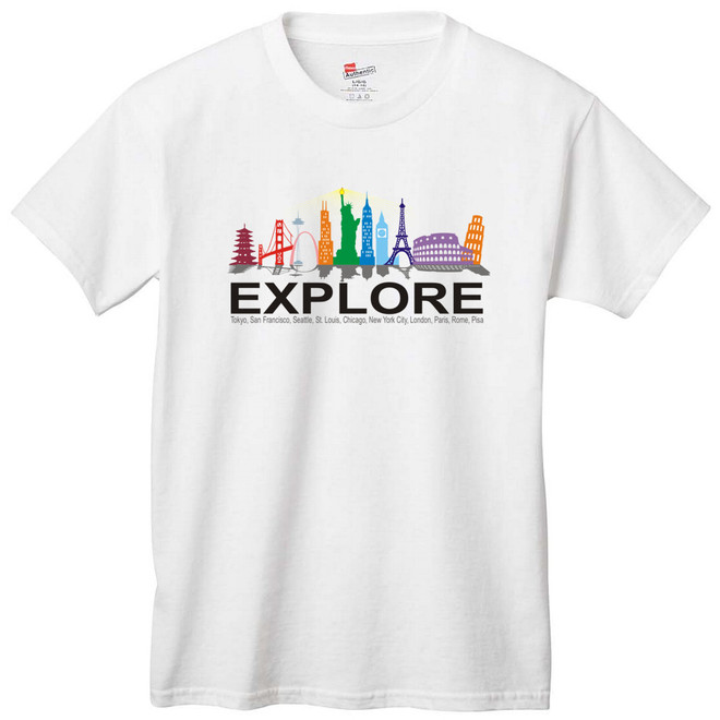 World City Landmarks T-Shirt