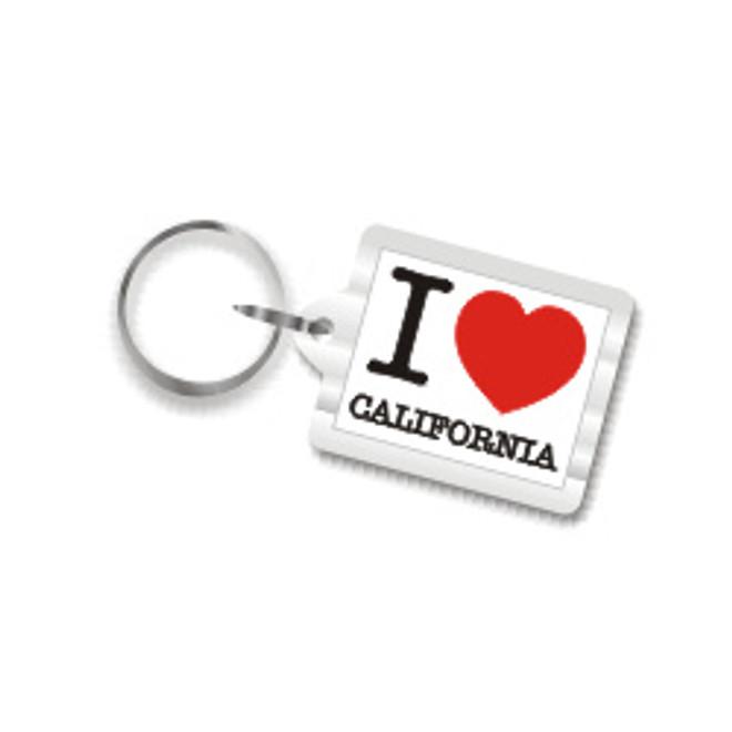I Love California Plastic Key Chain