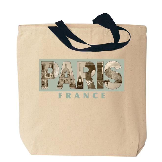 Paris Canvas Tote Bag