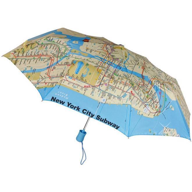 Map Of New York Subway Map.New York City Subway Map Umbrella