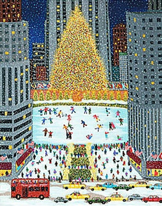 Rockefeller Center Scene Art