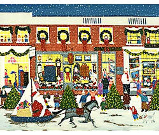 Santa's Coming to Town Art