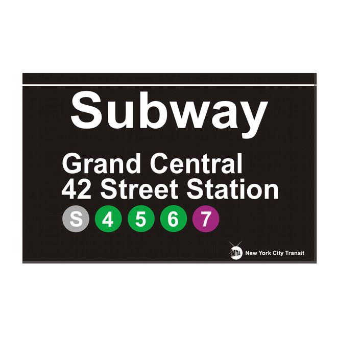 42nd Street Subway Station Grand Central Magnet
