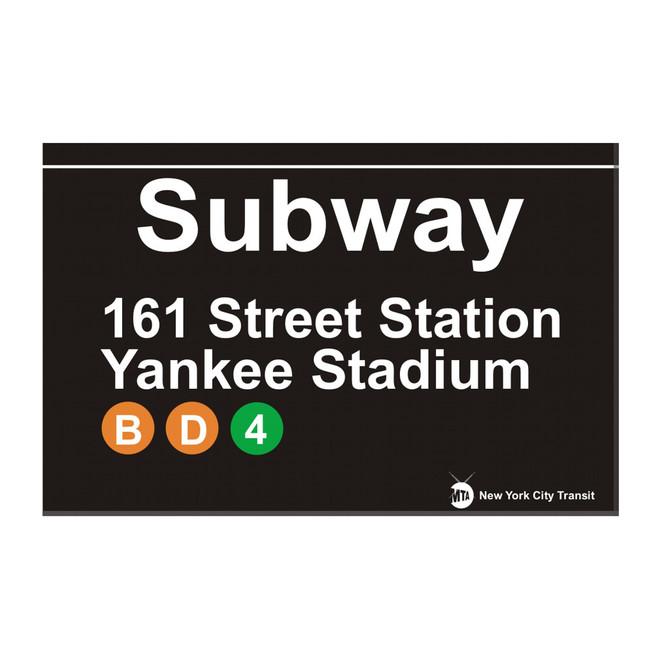 Subway Yankee Stadium Magnet