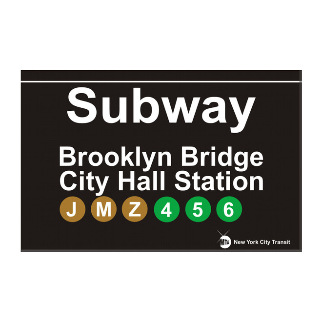 Subway Brooklyn Bridge Magnet