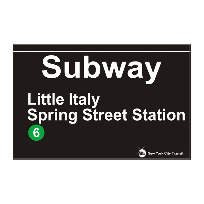 Spring Street Station Subway Little Italy Magnet