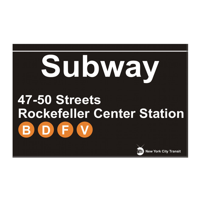 Subway 47th - 50th Street Rockefeller Center Magnet