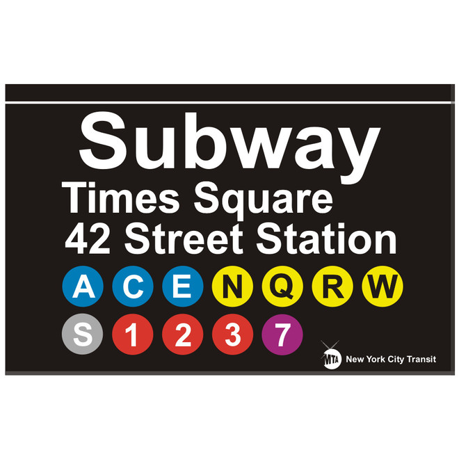 Replica Subway Times Square Sign