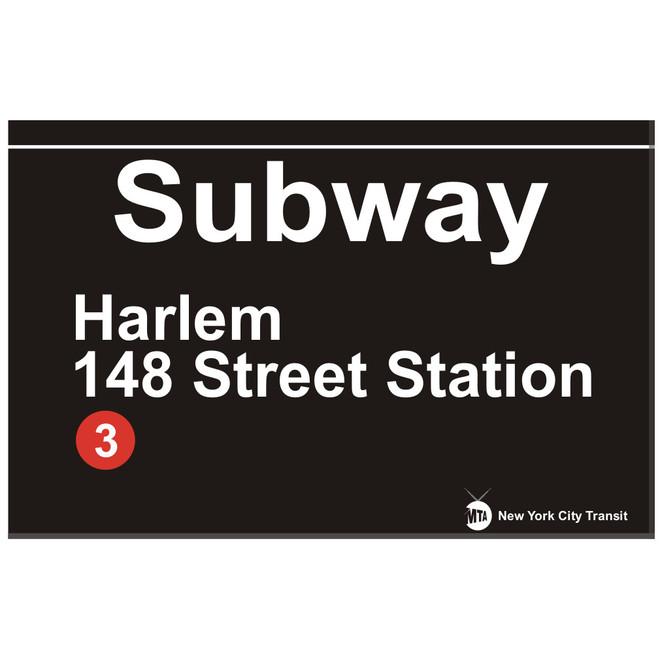 Replica Harlem 148th Street Station Subway Sign