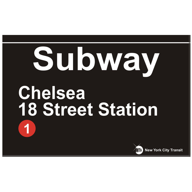 Replica Chelsea Subway Sign