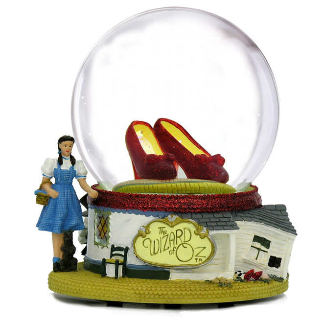 The Wizard of Oz Ruby Slippers Snow Globe