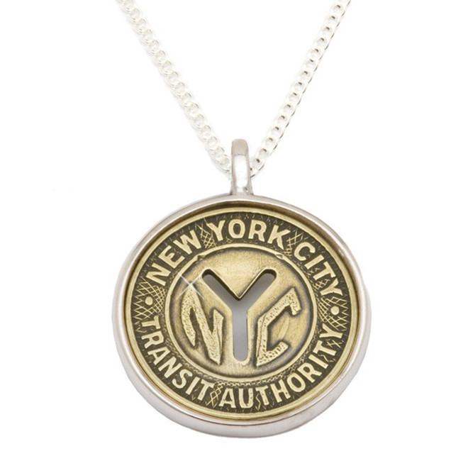 New York Token cufflinks NYC subway