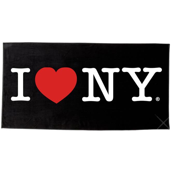 Black I Love NY Beach Towel and Bath