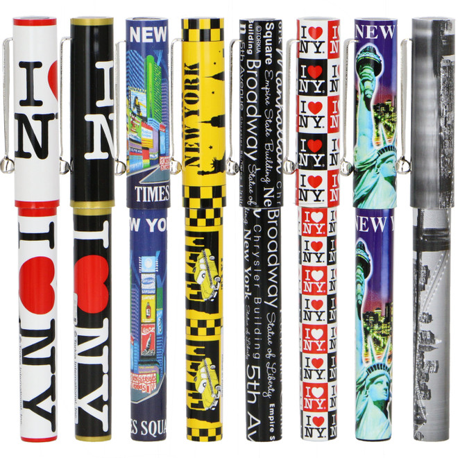 New York Theme Pen Party Souvenir from NYC and I Love NY Pens