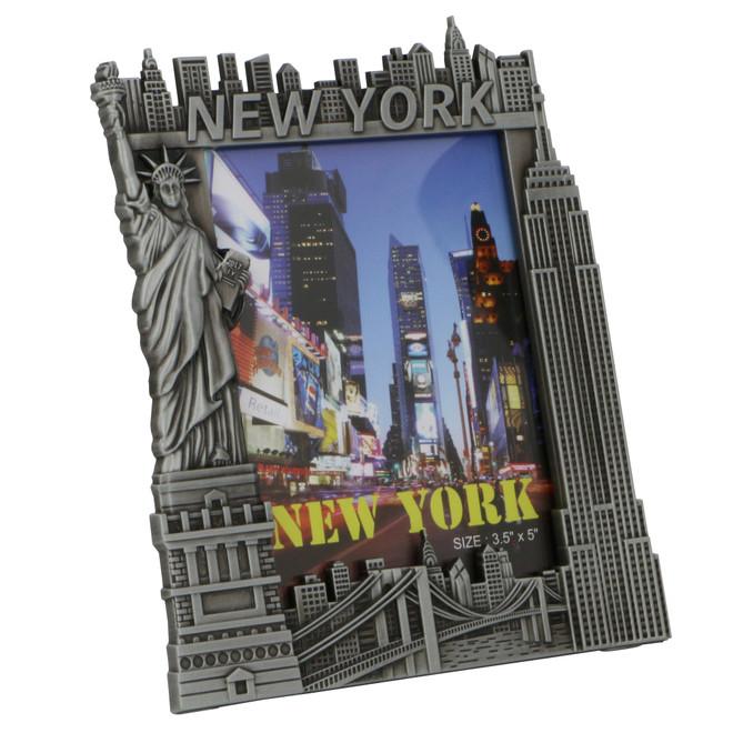 Pewter New York City Skyline Photo Frame