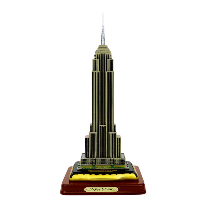 Empire State Building w/ Wood Base