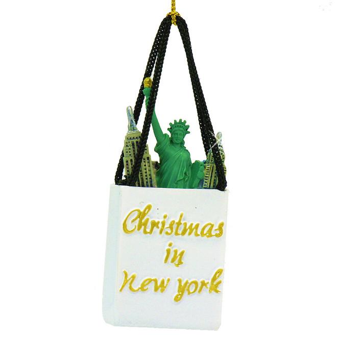 Landmark Shopping Bag New York Christmas Ornament