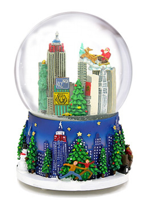 Christmas in New York Musical Snow Globe