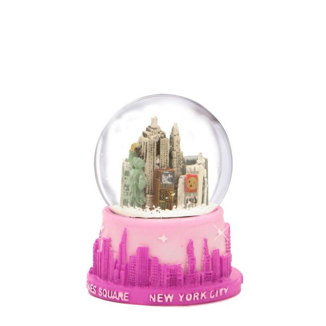 Pink NYC Snow Globe with Skyline