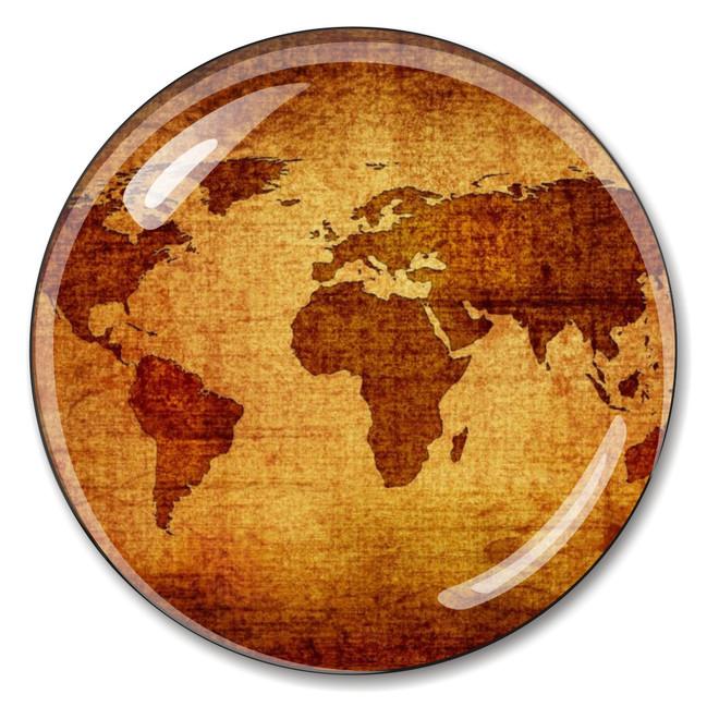 Cyrstal Antique World Globe Paperweight