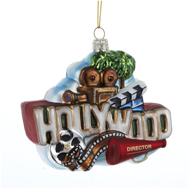 Hollywood Christmas ornament glass decoration from California