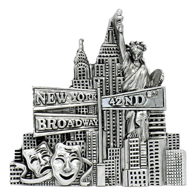 Landmarks Silver New York City Magnet