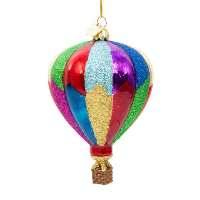 Glass Hot Air Balloon Christmas Ornament
