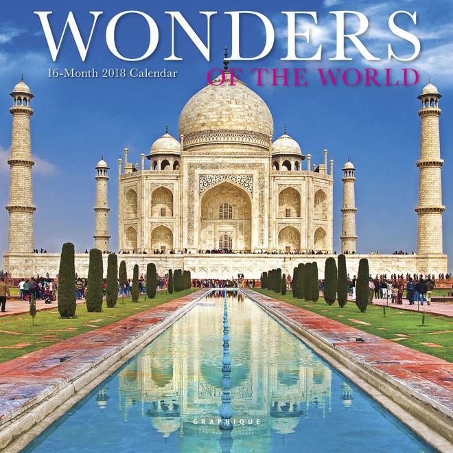 Wonders of the World Calendar, Wall Calendar