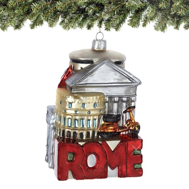 Noble Gems Glass Rome Christmas Ornament - Noble Gems Glass Rome Ornament