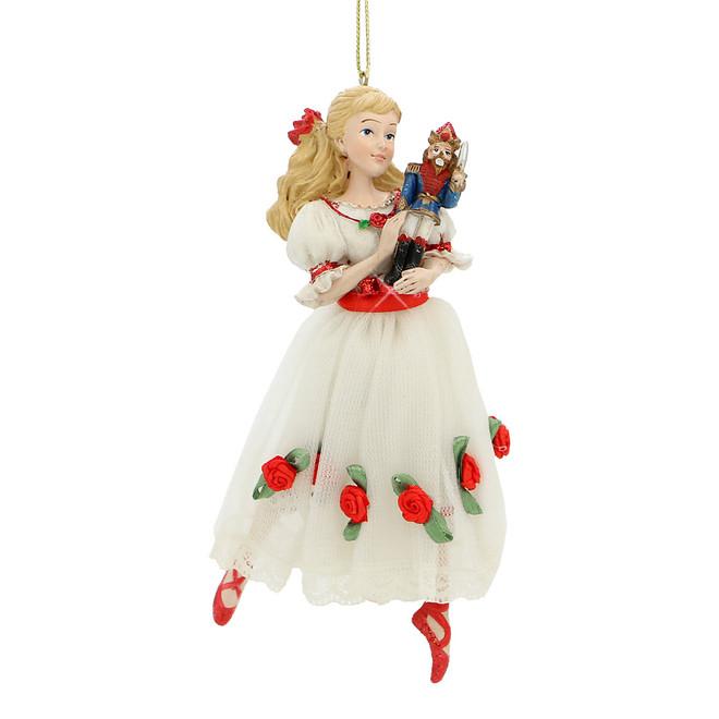 Clara and Nutcracker Christmas Tree Ornament