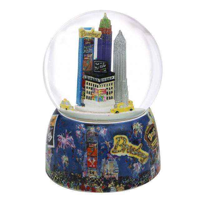 Times Square Rotating Snow Globe