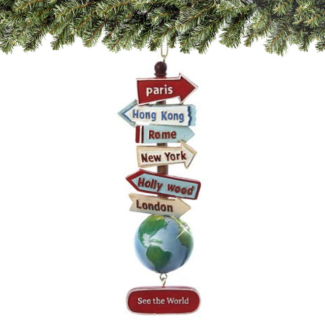 See the World Signs Christmas Ornament
