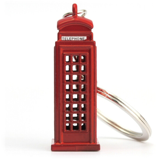 London Phone Booth Keychain, fob