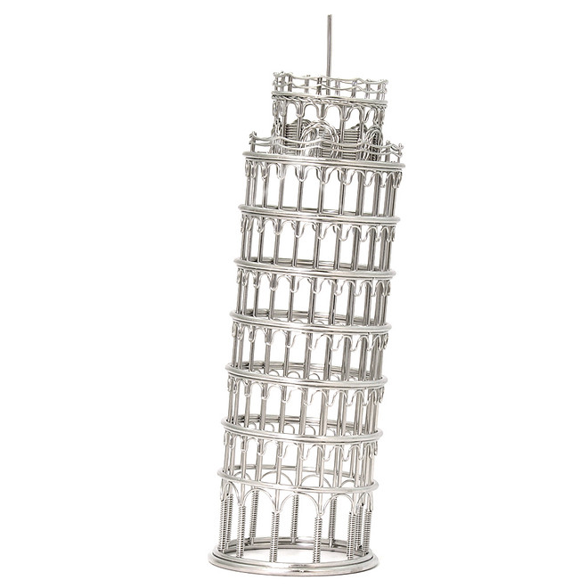 Leaning Tower of Pisa Replica, Steel Wire