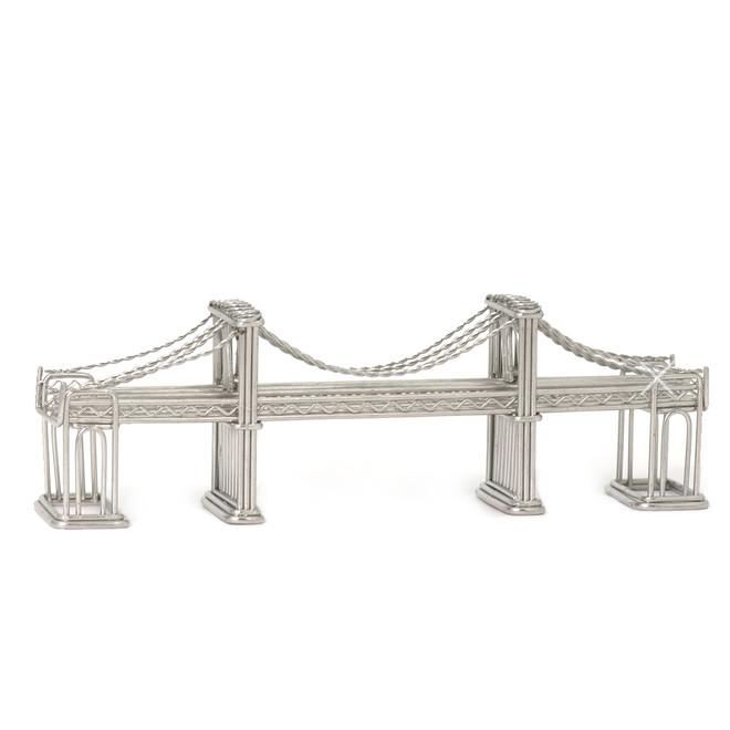 New York City Steel Replica Statue Gift Models Brooklyn Bridge NYC Wire Model
