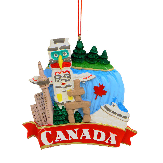 Canada Icons Christmas Ornament