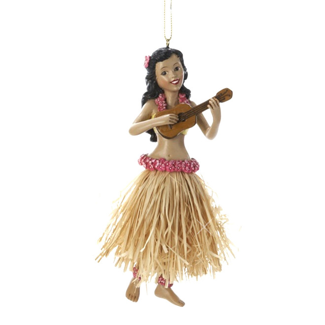 Hawaiian Hula Ukulele Ornaments