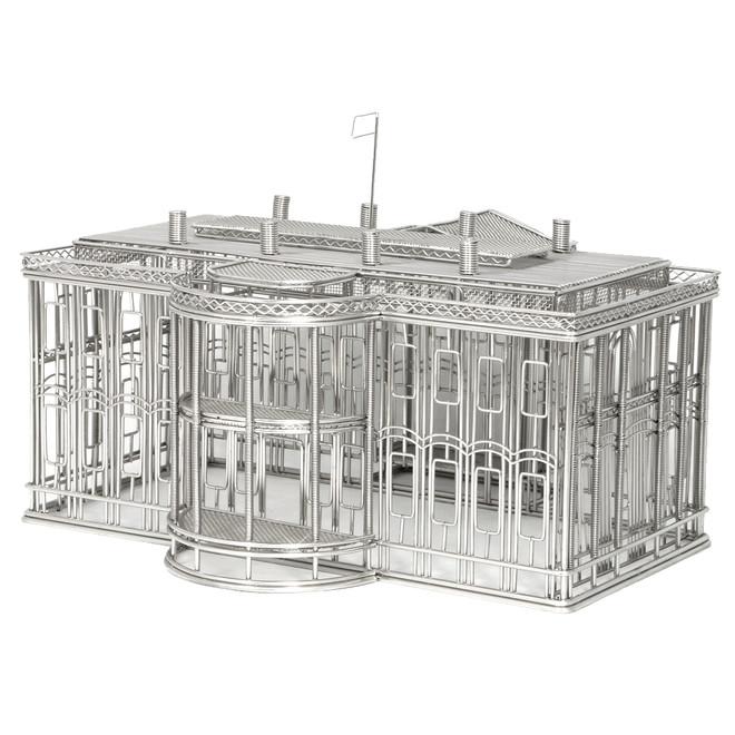 White House replica wire model