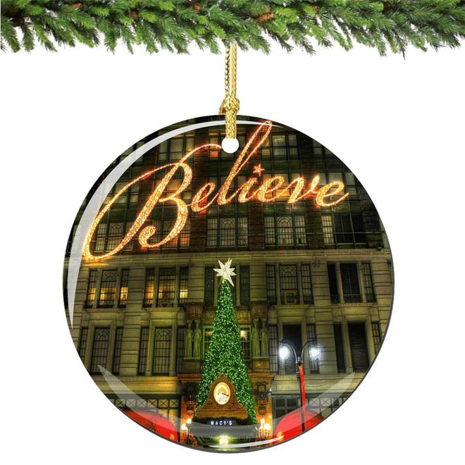 Believe, Macy's Christmas Ornament Porcelain