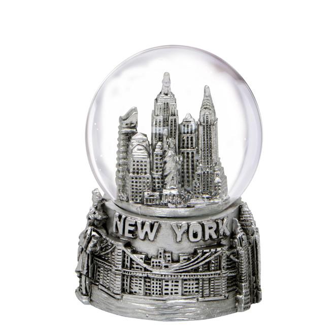 Mini Silver New York City Skyline Snow Globe