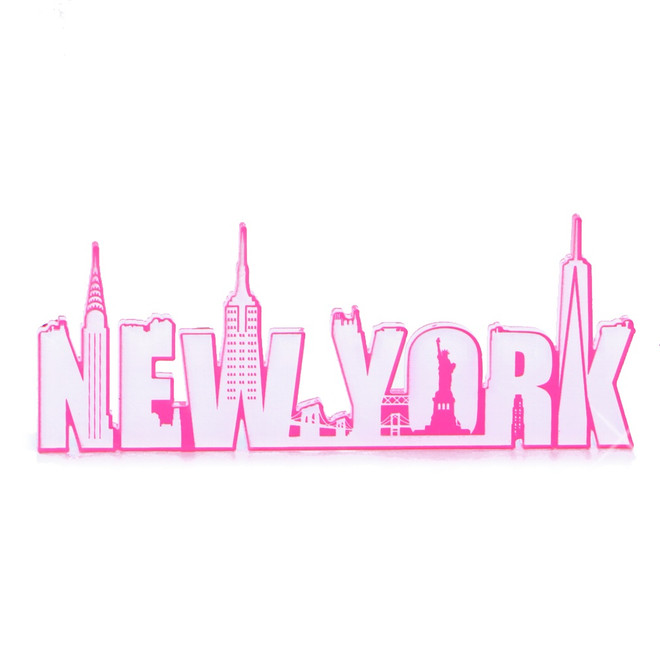 Hot Pink New York Magnet Acrylic