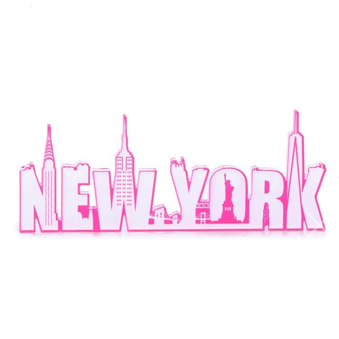Hot Pink New York Magnet Acrylic
