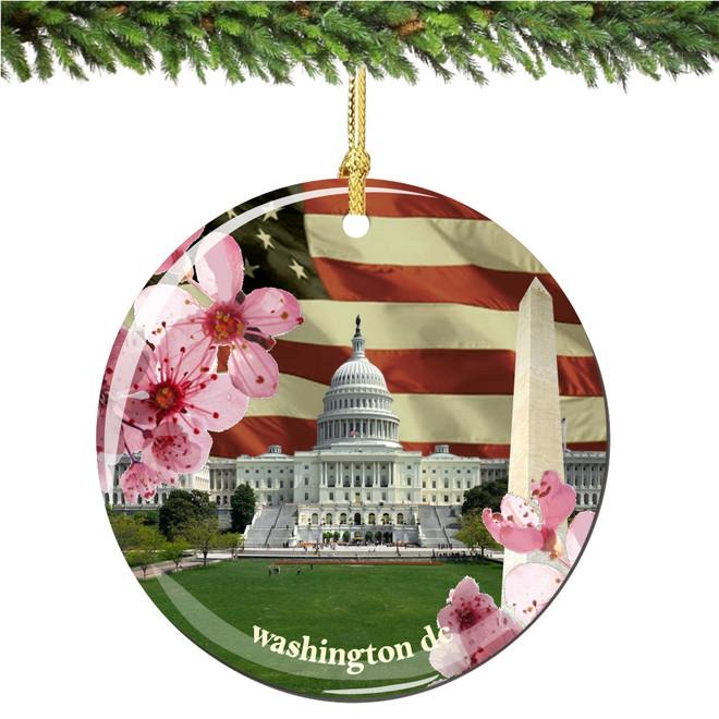 Washington DC Christmas Ornament Porcelain