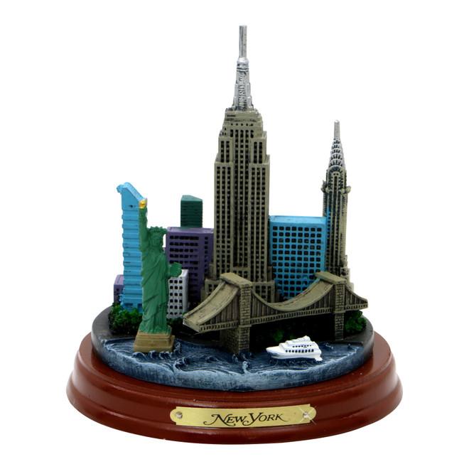 Wooden Base New York City Model 4.5 Inch