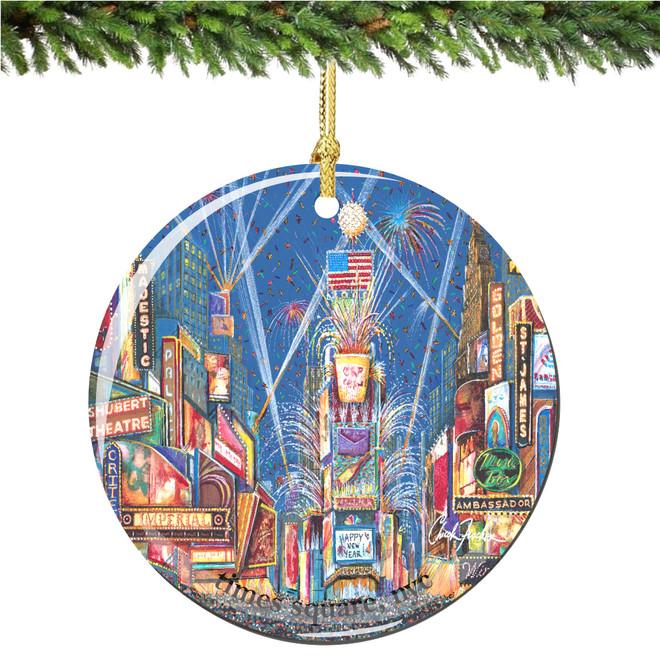 Chuck Fischer's Times Square Porcelain Christmas Ornament