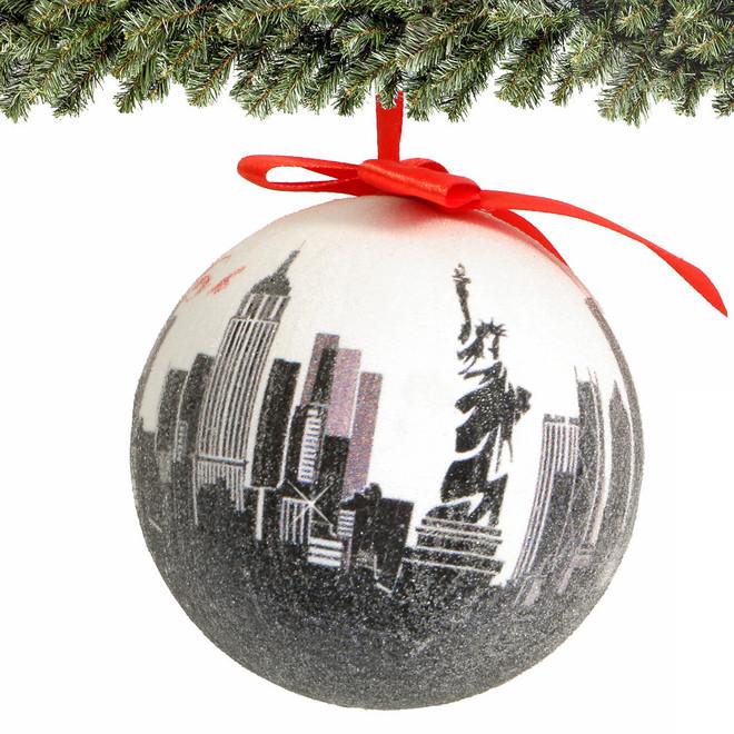 "4"" NYC Skyline Ball Ornament"