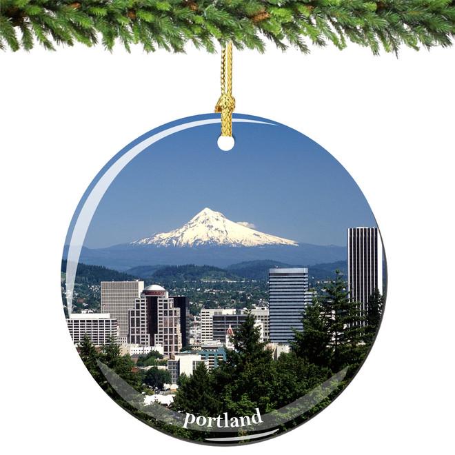 Portland Oregon Christmas Ornament - Portland, Oregon Porcelain Christmas Ornament