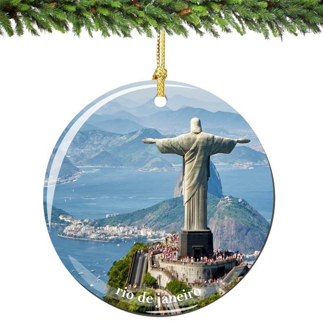 Christ the Redeemer Porcelain Christmas Ornament