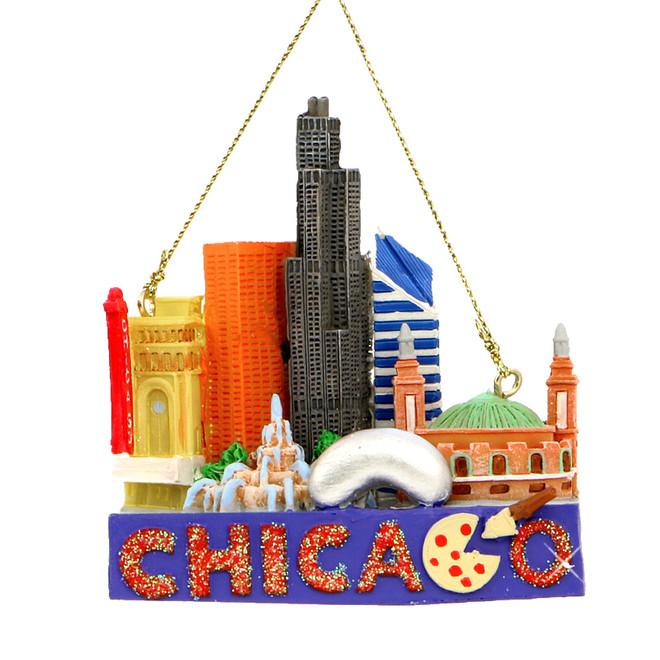 - Chicago Landmarks Christmas Ornament