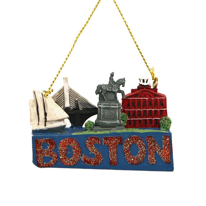 Boston Landmarks Christmas Ornament